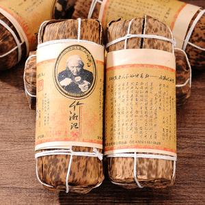 湖南安化黑茶 特级原料嫩芽叶 竹湘记200克 天尖原料手工压制