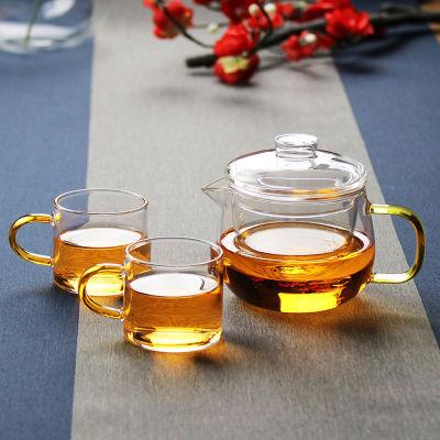 玻璃茶壶耐热泡茶壶茶水分离煮茶壶单人透明冲茶器