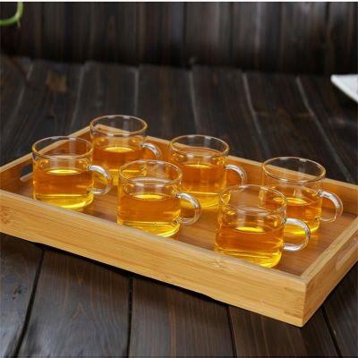 高硼硅耐热加厚玻璃小把杯6只装 酒店泡花茶酒杯子(偏远地区不包邮)