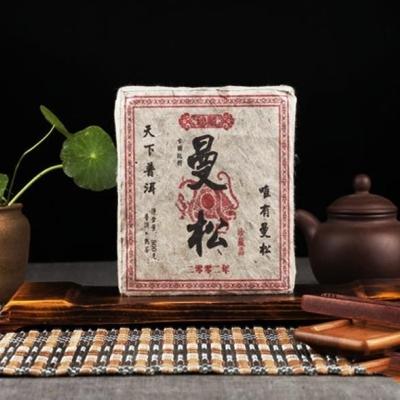 500克  02年的曼松熟茶砖