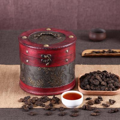 产地货源 云南普洱茶 木桶装陈年老茶头 糯米香普洱熟茶600g