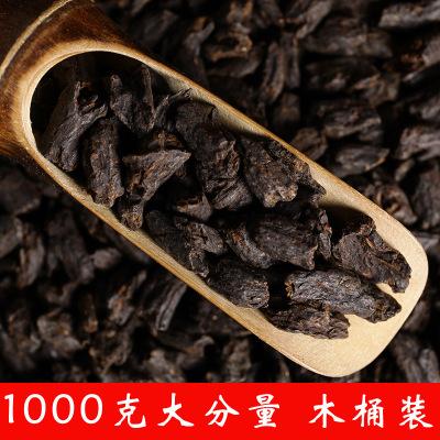 木桶装1000克普洱茶熟普茶糯米香茶化石碎银子散茶浓香老茶头