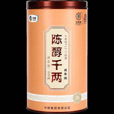 中茶陈醇千两湖南安化黑茶千两茶 陈醇千两罐装320g(偏远地区不包邮)