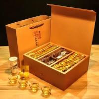 正山小种红茶500g红茶茶叶礼盒装 双层100包武夷山桐木关茶配茶具