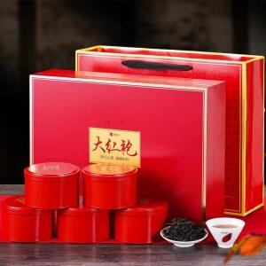 送礼推荐 武夷岩茶大红袍240g茶叶礼盒五罐组合茶叶礼盒装