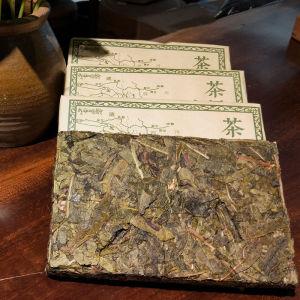 普洱茶砖云南普洱茶生茶茶砖黄金叶砖茶马古道250克/砖×4块1000克