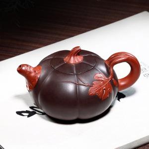 宜兴紫砂壶中国名家全手工南瓜紫砂壶230ml(偏远地区不包邮)