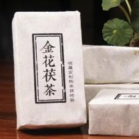 黑茶湖南安化陈年金花茯砖茶 原叶金花茯砖茶180g (偏远地区不包邮)