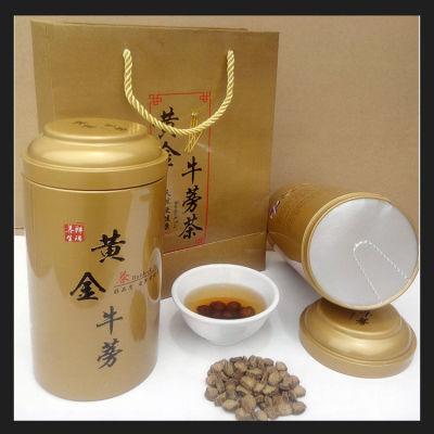 '正品黄金牛蒡茶250克一罐买一斤送手提袋浓香型大圆片新鲜野生牛膀片根