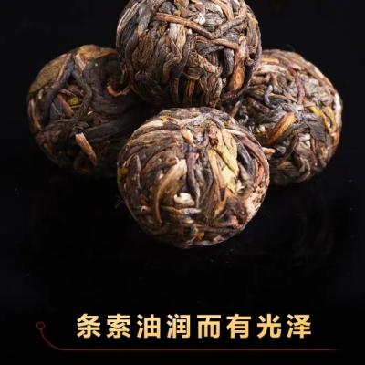 云南普洱茶 2013年布朗山古树小龙珠生茶 纯手工小沱茶500克罐装
