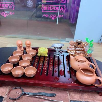 茶具套装家用简约泡茶整套紫砂茶壶茶杯小茶台小茶盘茶道客厅