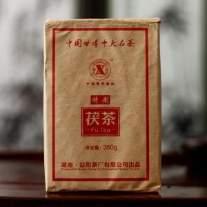 湘益茯茶特制世博茯砖茶350g金花茯茶砖【偏远地区不包邮】