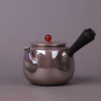 日本银器尺寸:壶约D11×H7容量:约200ml,约157g