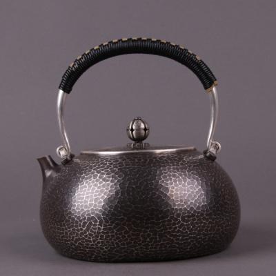日本银器:壶约D17×H19容量:约1300ml重:约740g