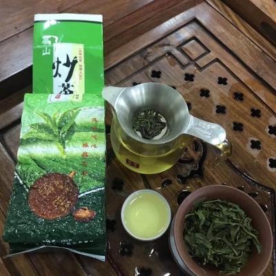 高山绿茶500g炒茶芯配手提袋绿茶新茶2019生态茶园清香炒青手工茶叶