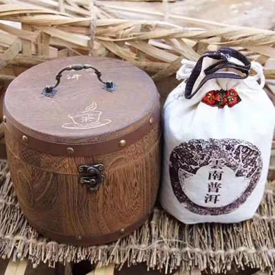 普洱茶熟茶散茶老茶头500克送木桶