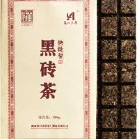 买一送一同款黑砖白沙溪品牌茶叶安化黑茶快捷性巧克力黑砖茶500g