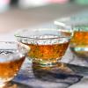 安化黑茶茯砖茶品质黑茶大蓝盒一公斤金花茂盛