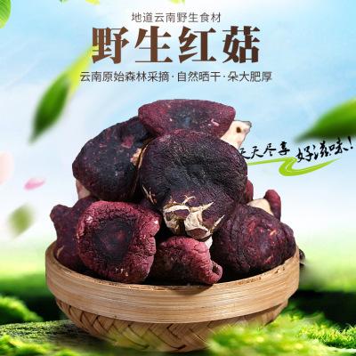 云南野生红菇食用菌干货100g 一手货源散装特产 不开伞干红菇 煲汤喝