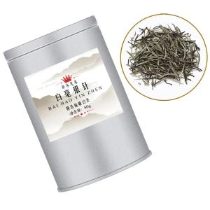 老白茶银针茶 福鼎白茶 白毫银针茶叶 50g罐装雨前白茶
