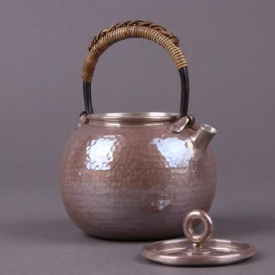 日本银壶壶约D9×H12,:约200ml克重:约188g