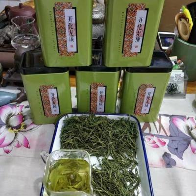 2020新茶上市朝飞茶叶开化龙顶绿茶新茶春茶一斤五铁罐装便携带