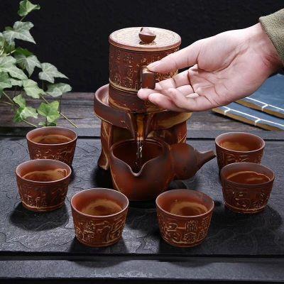 特价宜兴自动紫砂功夫茶具套装泡茶壶盖碗茶杯简约懒人半自动定制