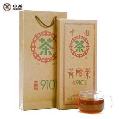 湖南安化黑茶 2017年中茶 百年木仓9101青砖茶1.7kg