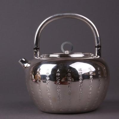 日本银器尺寸:壶D15×H18容量:1000ml克重:510g