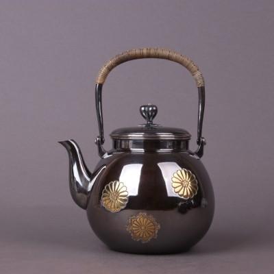 日本银器尺寸:壶D13×H18容量:1000ml克重:425g