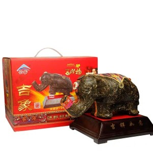 云南普洱茶工艺品茶雕摆件  滇美普洱茶工艺礼品 吉祥如意1000克