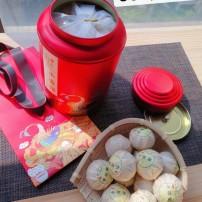 2017年份古法生晒新会小青柑/十年份云南宫廷普洱茶/一罐500克包装