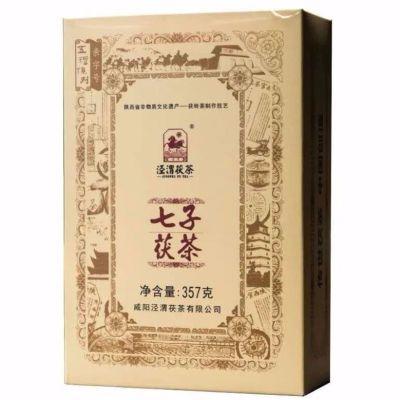黑茶金花茯茶七子茯泾渭茯茶陕西特产官茶357g