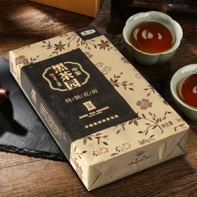 特制花砖茶安化黑茶1000克极黑系列