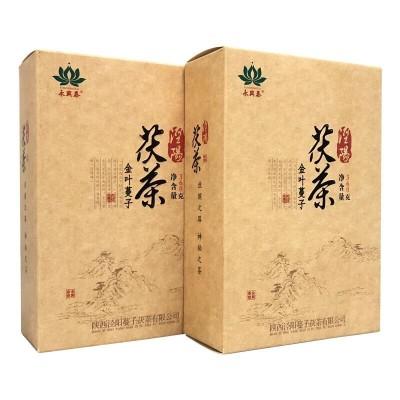 茶叶黑茶茯砖茶茯茶陕西茯茶泾渭茯茶泾阳茯砖茶金花茯茶金叶蔓子360克