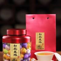 福鼎老白茶白茶龙珠福鼎白茶寿眉小沱茶500g礼盒罐装一斤70粒左右