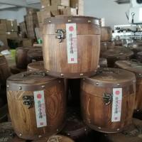 普洱熟茶小金砖 云南普洱老茶小方砖1000克木桶礼盒装