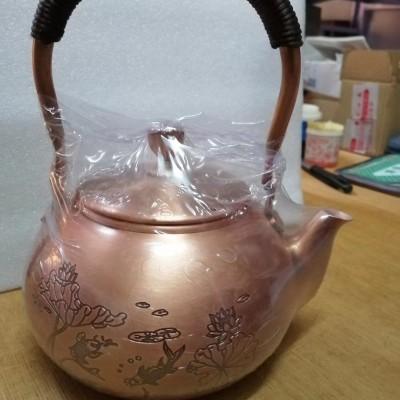 精品手工紫铜壶,容量1200ml,重量1kg