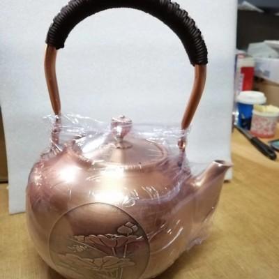 精品手工紫铜壶