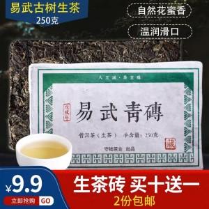 【买10送1】云南普洱茶熟茶多口味糯香茉莉原味小沱茶礼盒装茶叶250克
