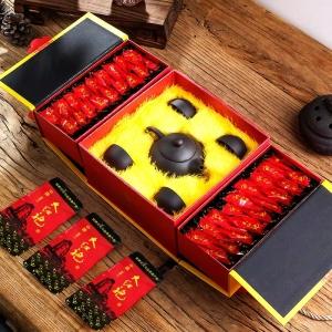 买茶送茶具 过年送礼品茶 大红袍 武夷岩茶 茶叶礼盒装