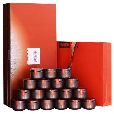 年货 送长辈 茶礼武夷山金骏眉红茶小茶罐18罐茶叶新潮精致礼盒装