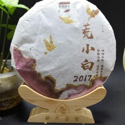 (静芝茶香)2017年荒小白1饼350克,这款冬茶制作方法独特口感香甜