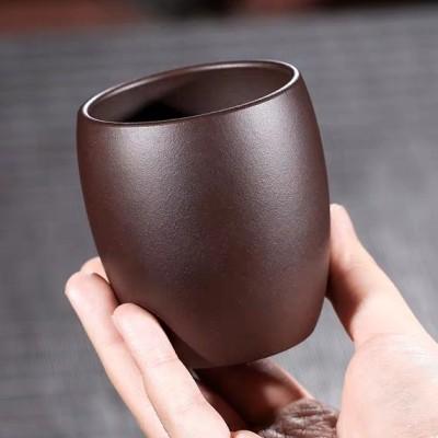 紫砂茶杯大号主人杯水杯纯手工功夫茶具紫泥单杯品茗杯紫砂杯