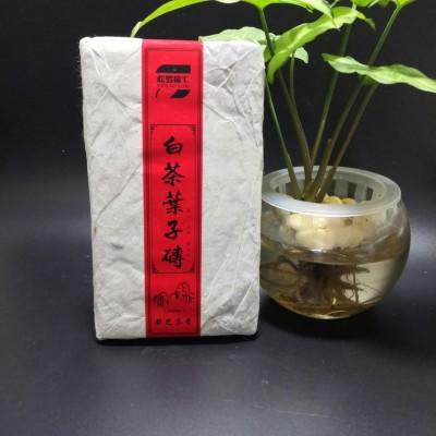 (静芝茶香)2009年金典珍藏叶子茶砖1粒350克,枣香入口 回味无穷