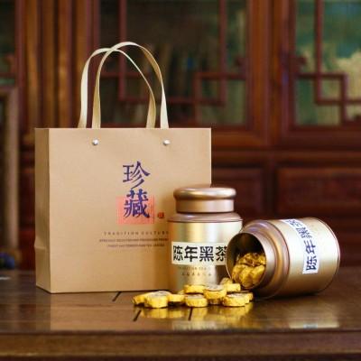 黑茶湖南安化特级正宗金花茯砖陈年金币天尖茶野生沱茶安华茶叶500克