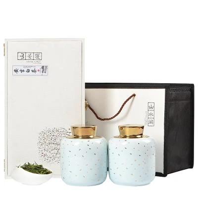 新茶正宗安吉白茶礼盒装 100g装陶瓷罐茶叶春茶 明前绿茶送礼