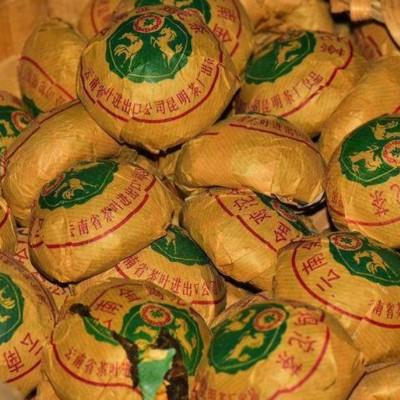 1989年中茶'鷄馬沱'业界俗称,金鸡沱!震撼登场!5沱一共500克