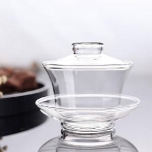 加厚茶盖碗大号玻璃盖碗泡茶大码三才盖碗子功夫茶具