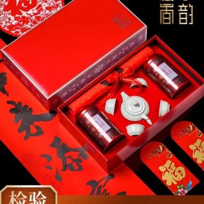 金骏眉红茶礼盒装年货春节礼品 特级武夷山新茶浓香型金俊眉300g